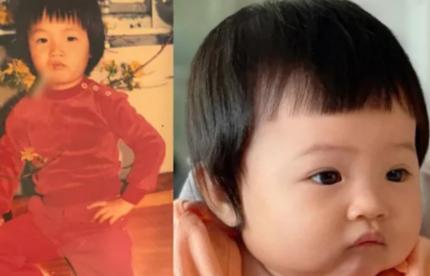Cường Đô La so sánh ảnh mình ngày bé với con gái mà khiến dân tình trầm trồ