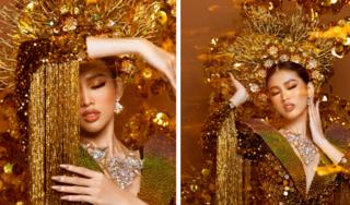 Á hậu Ngọc Thảo diện quốc phục nặng gần 30kg thi Hoa hậu Hòa bình có gì đặc biệt?