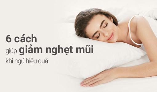 Giảm nghẹt mũi khi ngủ