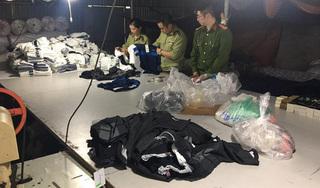 Tiếp tục bắt quả tang cơ sở sản xuất quần áo giả nhãn hiệu Adidas, Nike, Lacoste