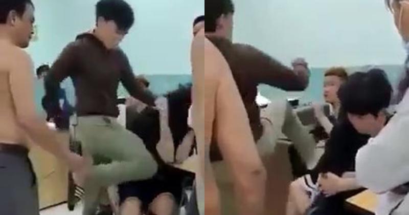 2 thiếu niên bị dân phòng đánh dã man ngay trong trường THCS ở TP.HCM