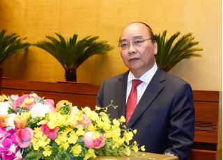 Sau khi được miễn nhiệm Thủ tướng, ông Nguyễn Xuân Phúc được giới thiệu để bầu Chủ tịch nước