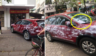 Đã xác định được người phun sơn khắp xe ô tô Honda CR-V ở Hải Phòng