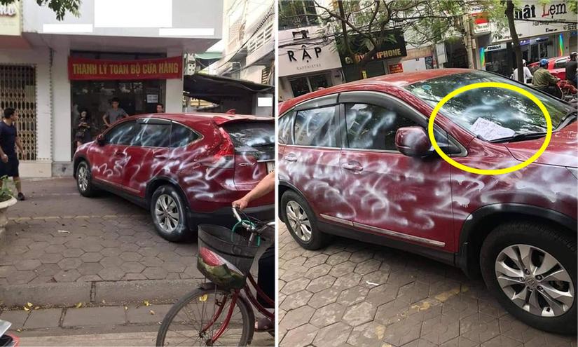 Ai là người phun sơn loang lổ khắp xe ô tô Honda CR-V