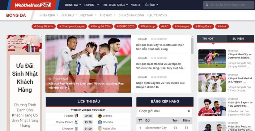 Web Thể Thao 247, Một thế giới thể thao đúng nghĩa