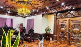 Biệt thự của đại gia Bắc Ninh với nội thất toàn gỗ nguyên khối nhập từ Lào