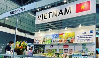 Nước giải khát mang thương hiệu Việt được trưng bày tại Foodex Japan 2021