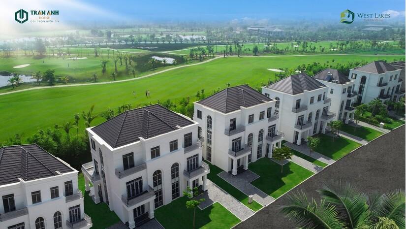 Biệt thự West Lakes Golf & Villas được xây dựng bài bản, thu hút giới nhà giàu xuống tiền tại Long An