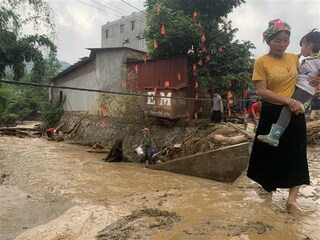 Tìm thấy 2 thi thể bị lũ cuốn ở Lào Cai