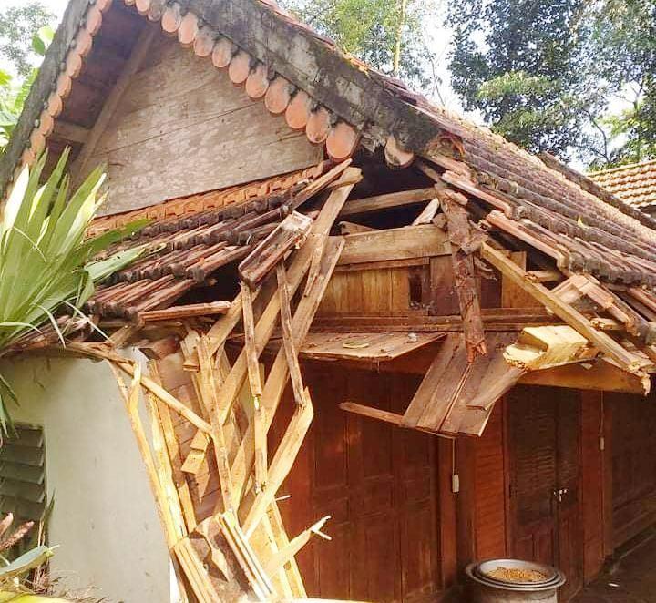 Nghệ An: Hàng chục ngôi nhà tốc mái, ruộng lúa đổ rạp sau trận mưa lốc