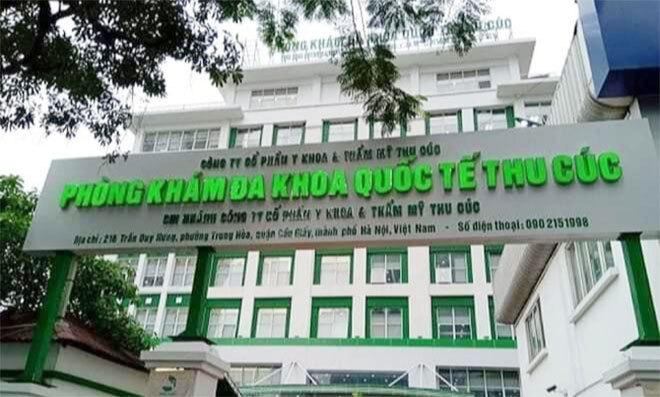Đình chỉ hoạt động Phòng khám Đa khoa quốc tế Thu Cúc