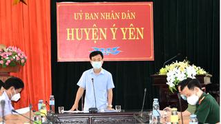 Chủ tịch Nam Định phê bình lãnh đạo, Ban Chỉ đạo phòng, chống Covid-19 xã Yên Cường