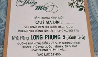 Kiên Giang yêu cầu báo cáo vụ lãnh đạo Phú Quốc tổ chức đám cưới cho con mùa dịch