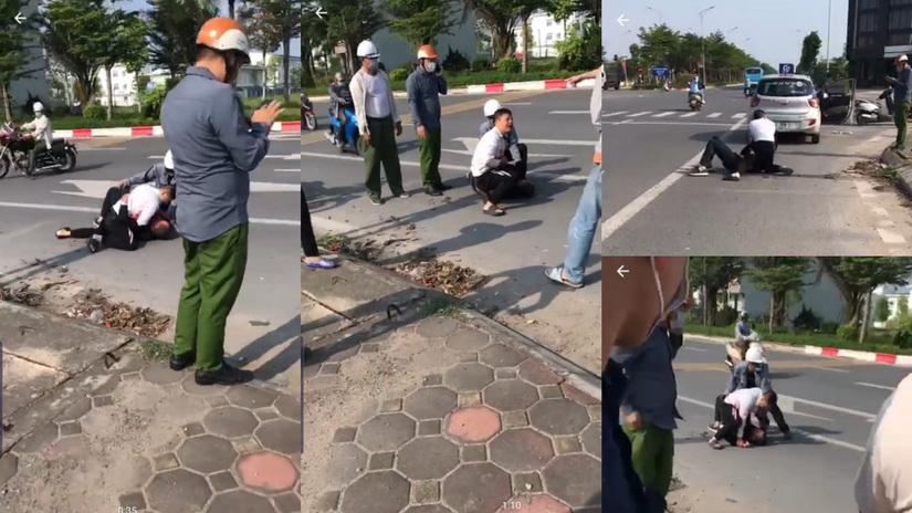 Đang xác minh clip người mặc sắc phục công an chỉ gọi điện thoại ở hiện trường vụ cướp taxi G7