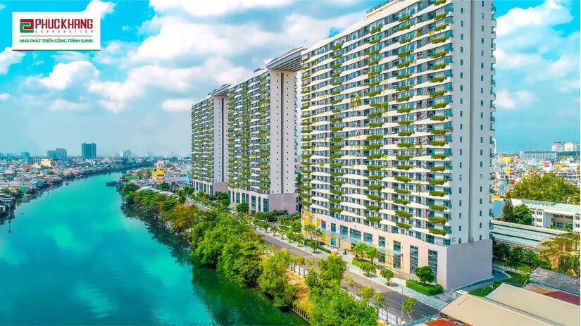 Dự án Diamond Lotus Riverside được phát triển bởi chủ đầu tư Phúc Khang vừa được vinh danh trong Top 5 công trình xanh tốt nhất năm 2020