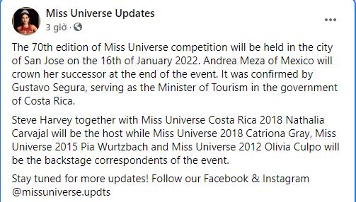 Á hậu Kim Duyên thi Miss Universe 2021 ở đâu khi thời gian tổ chức thay đổi?