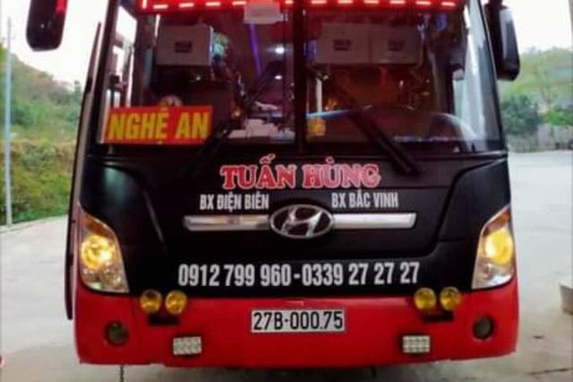 Thanh Hóa khẩn tìm người đi trên xe khách Tuấn Hùng, tuyến Nghệ An - Điện Biên