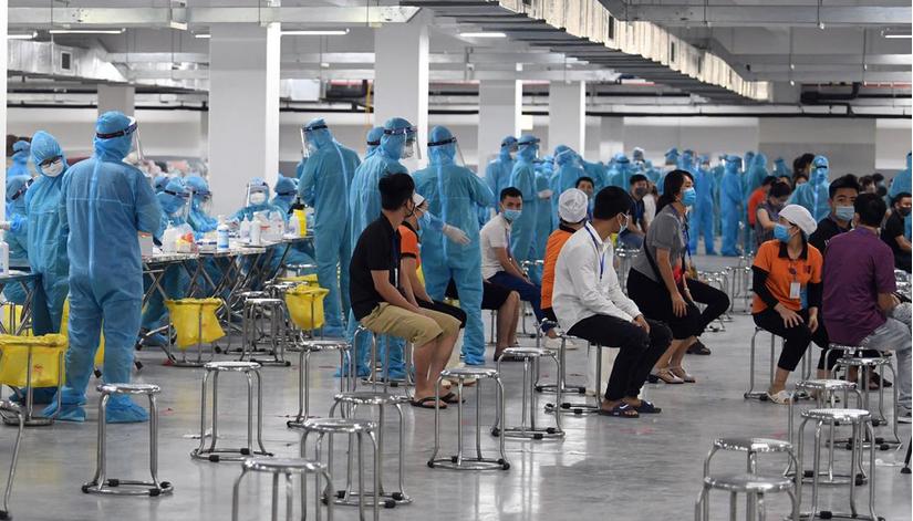 Phát hiện thêm hơn 300 công nhân tại Bắc Giang dương tính SARS-CoV-2