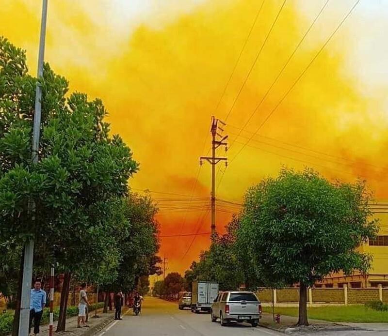 Công an xác định nguyên nhân vụ khói vàng bao trùm một phần KCN ở Cẩm Giàng