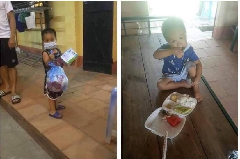 Sự thật chuyện bố mẹ mắc COVID-19, bé trai 3 tuổi đi cách ly một mình, tự ăn uống