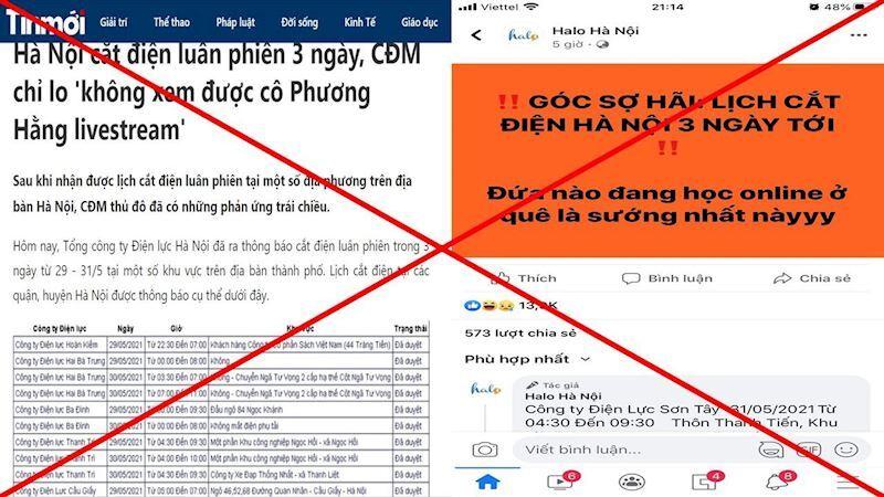 Thực hư thông tin Hà Nội cắt điện nhiều quận nội thành trong 3 ngày tới