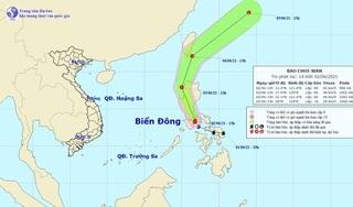 Bão Choi-wan gió giật cấp 10 xuất hiện gần Biển Đông