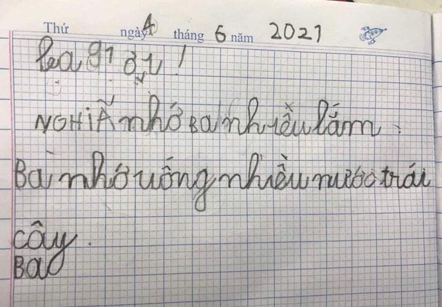 Xúc động bức thư nguệch ngoạc của con trai bác sĩ 91 gửi ba ở chiến trường Bắc Giang