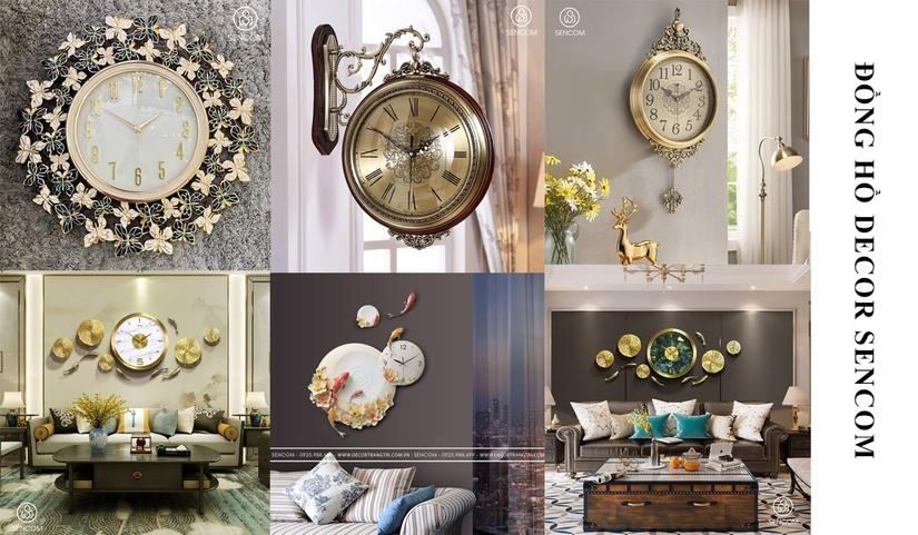 Cùng Sencom tìm hiểu ưu điểm và cách chọn đồng hồ decor treo tường