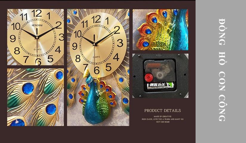 Tìm hiểu cơn sốt decor trang trí mang tên, đồng hồ con công