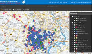 Xem trực tuyến tình hình dịch COVID-19 tại TP.HCM bằng bản đồ