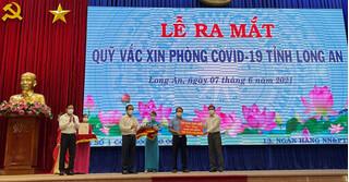 Trần Anh Group ủng hộ 10.000 liệu vaccine vào Qũy vaccine phòng Covid-19 tỉnh Long An