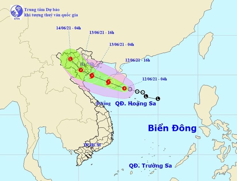 Áp thấp nhiệt đới sắp mạnh thành bão hướng vào đất liền, miền Bắc mưa to