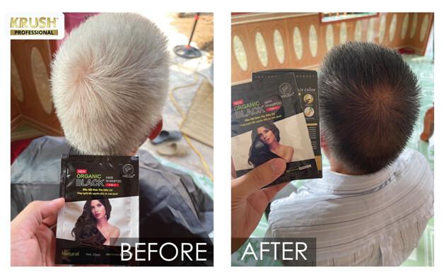 Dầu gội phủ bạc KRUSH, vị cứu tinh an toàn, lành tính cho mái tóc