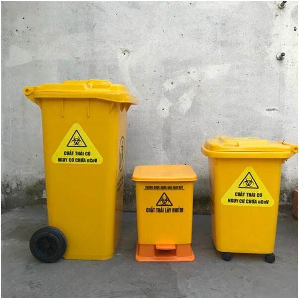 Màu sắc của thùng rác y tế nói lên điều gì