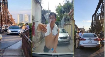 Phạt 45 triệu đồng tài xế xe ô tô say rượu gây náo loạn ở cầu Long Biên