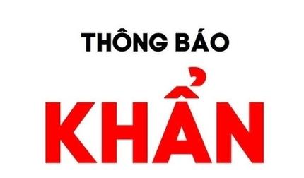 Thông báo khẩn tìm người đến 5 địa điểm tại Thái Bình