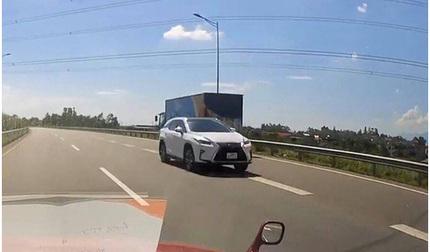 Tài xế xe Lexus chạy ngược chiều trên cao tốc bị phạt 17 triệu đồng