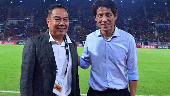 LĐBĐ Thái Lan thông tin bất ngờ về HLV Nishino