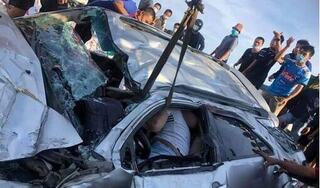 Công an thông tin vụ tai nạn xe tải đè bẹp ô tô con ở Hưng Yên