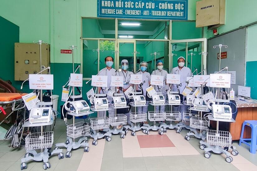 Các máy thở oxy dòng cao không xâm lấn giúp hỗ trợ hiệu quả trong công tác điều trị Covid-19