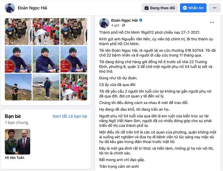 Quận 3 lên tiếng về thông tin ông Đoàn Ngọc Hải phản ánh trên Facebook