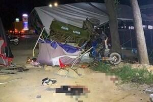 5 người đi xe ba gác về Nghệ An gặp nạn trên đường, 1 người chết