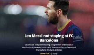 SỐC: Lionel Messi chính thức chia tay Barca