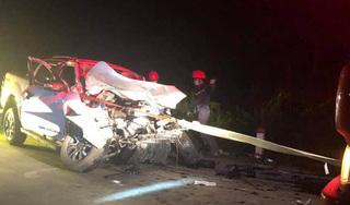 Xe chở 4 nhân viên y tế gặp tai nạn kinh hoàng, 1 người tử vong