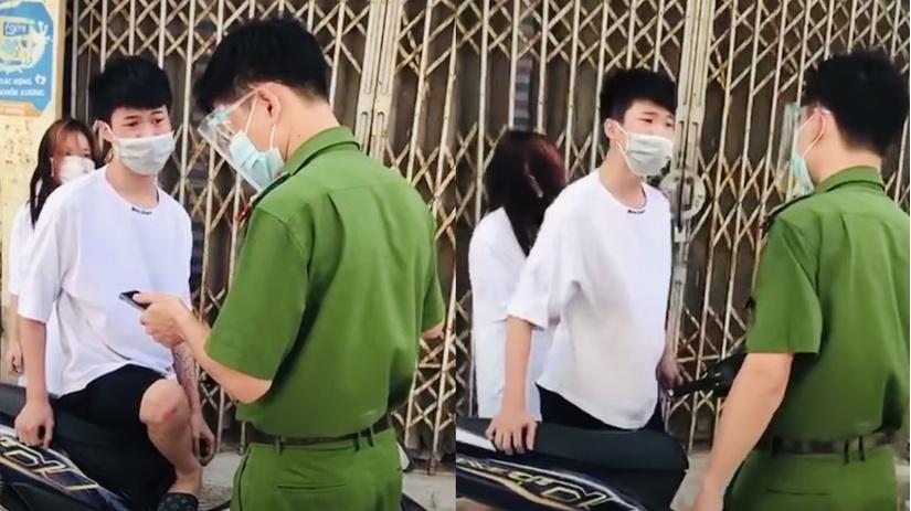 Xử phạt thiếu niên chửi bới, xúc phạm công an khi bị kiểm tra giấy tờ