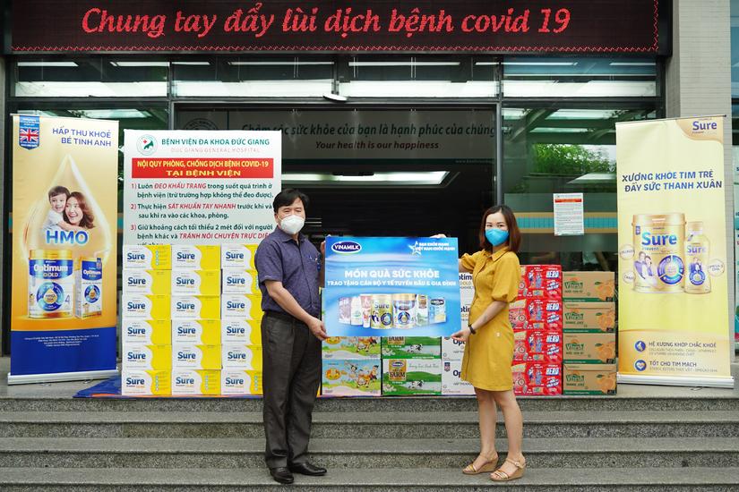 Vinamilk tiếp tục tiếp sức tuyến đầu tại 50 bệnh viện trong giai đoạn chống dịch cao điểm trên cả nước