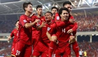 Tuyển Việt Nam bỏ xa Thái Lan trên bảng xếp hạng FIFA tháng 8
