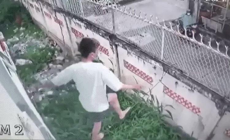 Thèm thuốc lá, nam thanh niên trèo tường trốn khỏi khu cách ly để đi mua