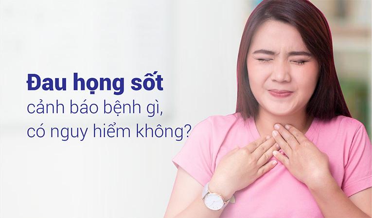 triệu chứng đau họng sốt