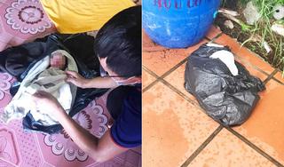 Phát hiện bé sơ sinh bọc túi ni lông để bên cạnh thùng rác